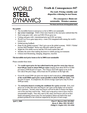 World Steel Dynamics | Annual Report Subscription